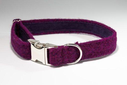 Burberry Harris tweed designer dog collar