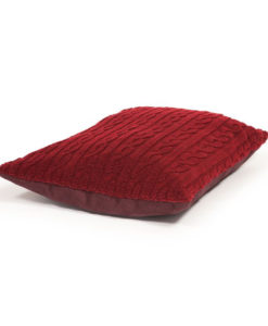 Damson red deep filled pillow dog bed