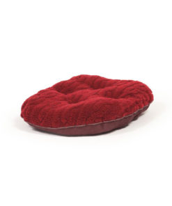 Damson red quilted dog mattress
