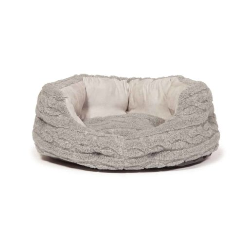 Bobble knit fleece slumber dog bed