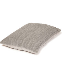 Pewter grey deep filled pillow dog bed