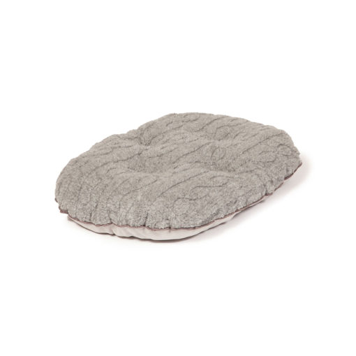 Pewter grey quilted dog mattress