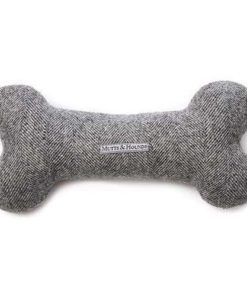 Stoneham Tweed Squeaky Bone Toy