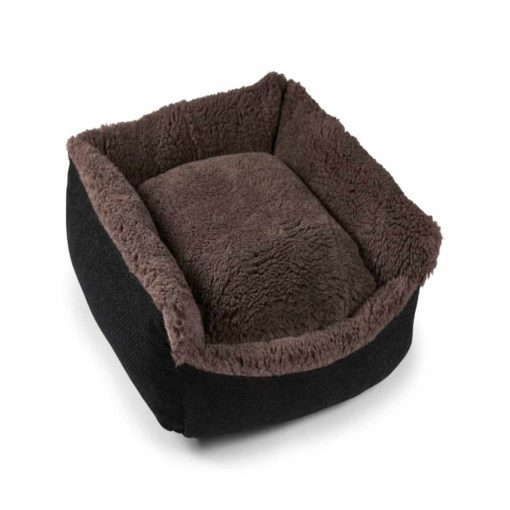 Chocolate Brown Cosy Wool Dog Bed