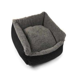 Grey Cosy Wool Dog Bed
