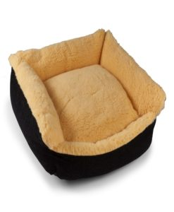 Cosy wool cream bolster dog beds