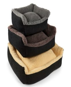 Cosy wool bolster dog beds