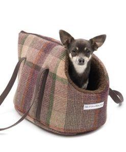 Grape Tweed Dog Carrier