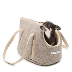 Grey Tweed Dog Carrier