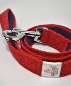 Red Tweed Dog Lead