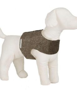 Mutts and Hounds Brown herringbone k Tweed Soft Harness