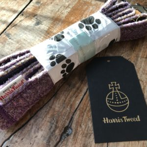 Lavender tweed dog lead