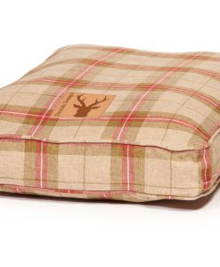 Newton range moss checked box cushion dog bed