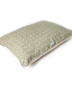 Sage green luxury pillow dog bed