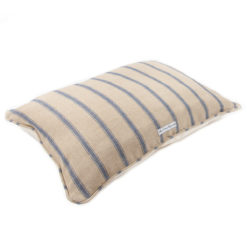 Navy and cream stripe dog pillow