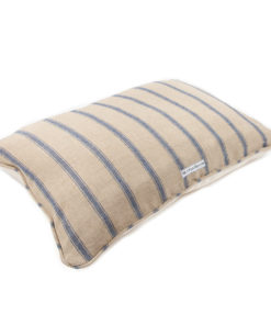 Navy and cream stripe dog pillow