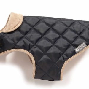 Quilted Dog Coat Navy