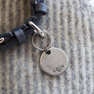 Pewter dog ID tag