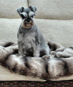 Chinchilla luxury faux fur dog blanket
