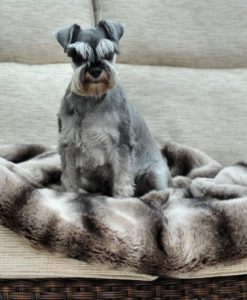 Chinchilla luxury faux fur dog blanket