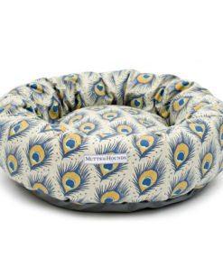 Peacock Pattern Linen Donut Bed
