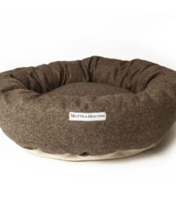 Herringbone Tweed Donut Bed