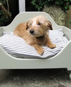 Handmade wooden dog beds