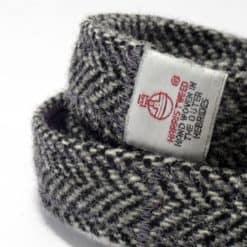 Grey Harris tweed dog lead