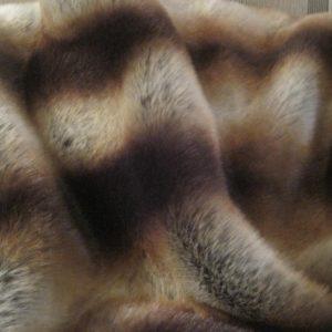 Chocolate stripes faux fur throw
