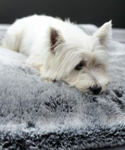 Silver Tipped Faux Fur Dog Blanket. . Luxury faux fur throws.