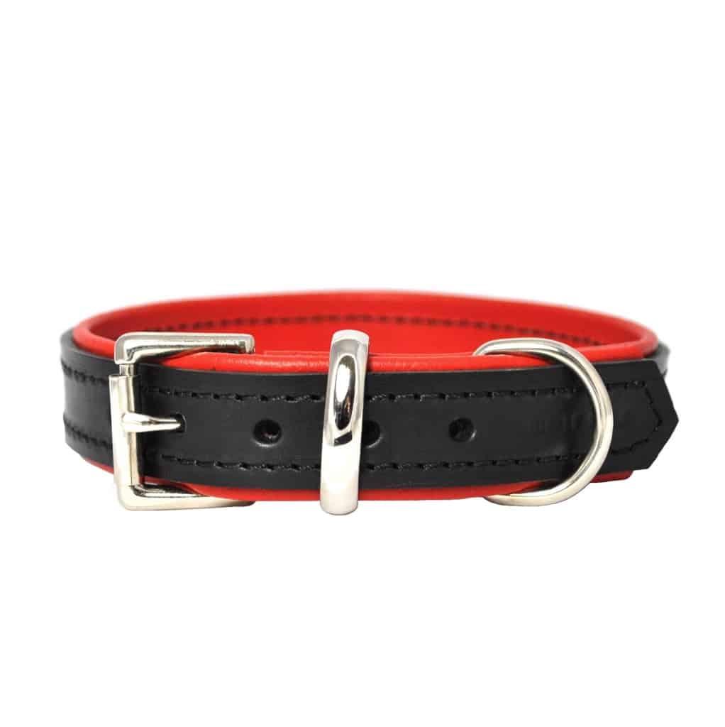 Black  U0026 Red Padded Leather Dog Collar  U2013 The Stylish Dog