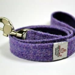 Designer Harris tweed dog leads