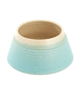 Turquoise Handmade Spaniel Dog Bowl