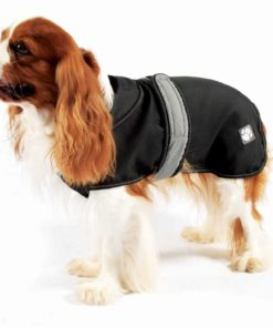 Black 2 in 1 coat: Stylish rain coat with removable fleece liner