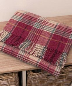 Huntingtower Grape Check Blanket