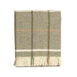 Windowpane Sage Check Blanket
