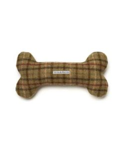 Tweed Squeaky Bone Toy
