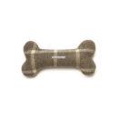 Grey Tweed Squeaky Bone Toy