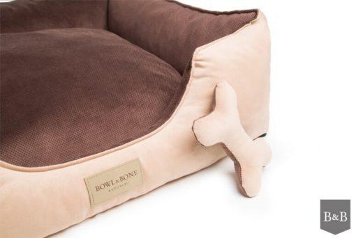 Classic grey bolster bed. Luxury Dog Beds UK