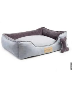 Classic grey bolster bed. Luxury Dog Beds UK