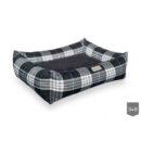 Grey Scott bolster dog bed