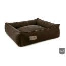 Urban brown bolster dog bed