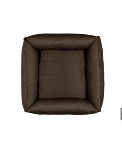 Urban brown bolster dog bed