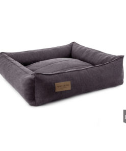 Graphite grey bolster dog bed. Luxury dog beds. Bowl and Bone
