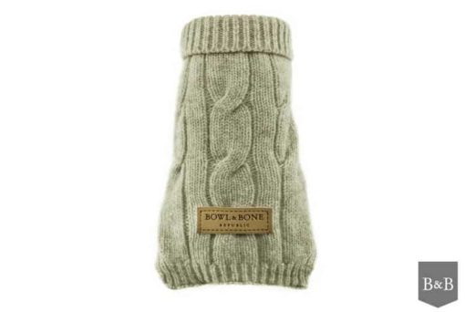 Dog jumper ASPEN ecru. Luxury dog jumpers