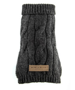 Dog jumper ASPEN grey. Luxury dog jumpers