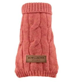 Dog jumper ASPEN peach. Luxury dog jumpers