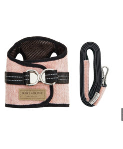 Pink soho dog harness with matching lead