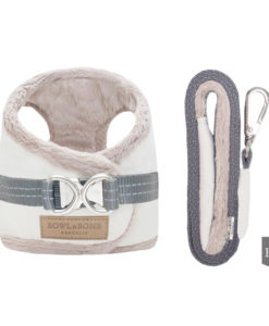 Cream yeti harness for your dog