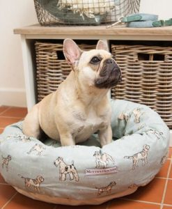 Dog Print Duck Egg Donut Bed